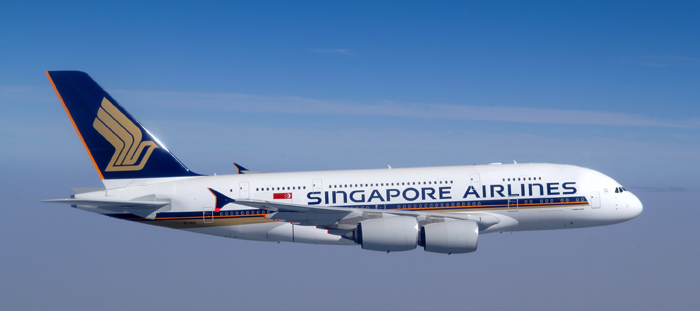 Singapore Airlines Flugzeug
