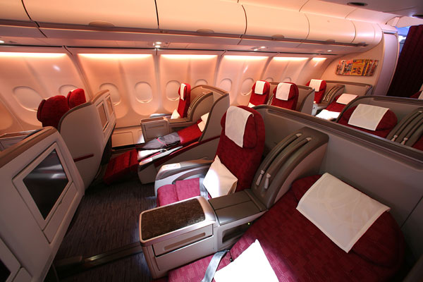 Die Business Class der QATAR Airways