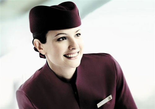 Stewardess der QATAR Airways