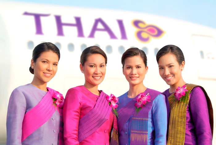 Stewardessen der Thai Airways International