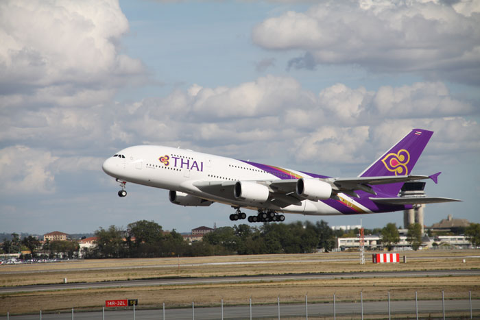 Airbus A 380 der THAI Airways