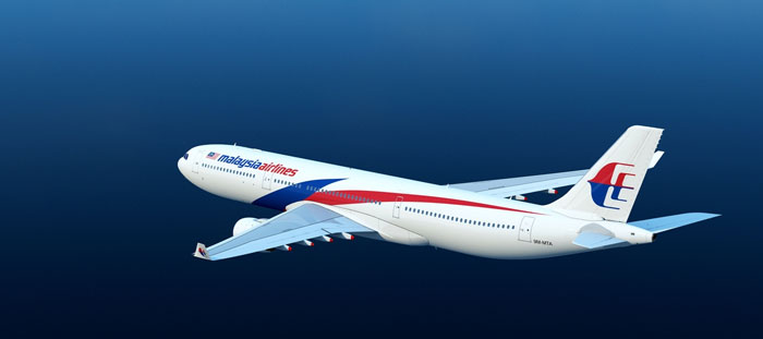 Airplane der Malaysia Airlines